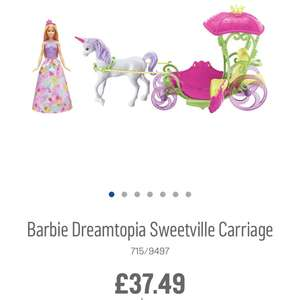 Barbie unicorn carriage also pet care centre link added £23.99 Argos