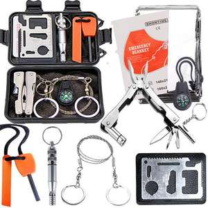 Outdoor Sports SOS Emergency Survival Equipment Kit Tactical Hunting Tool - £7.63 Banggood