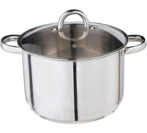 HOME 24cm Stainless Steel Stock Pot (7L Capacity) now £9.99 C+C @ Argos