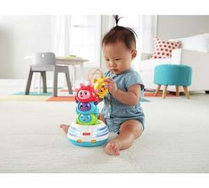 Fisher-Price Bright Beats Build-a-Beat Stacker was £22.99 now £11.50 C+C @ Argos (also Fisher-Price HIPPO Cuddle Projection Soother was £28.69 now £12.50)