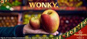 Giant British Braeburn Wonky Apples (average of 450g per apple) - Two for £1 @ Morrisons instore