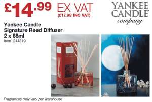 Yankee candle signature reed diffuser 2 x 88ml £17.98 @ Costco