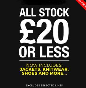 Blue Inc sale - all stock £20 or less