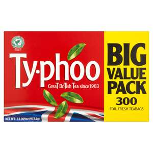 Typhoo 300 Foil Fresh Teabags 937.5g - £3 at Iceland