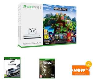 Microsoft Xbox One S Console 500GB Minecraft + 3M live + Forza Motorsport 7 + Fallout 4 + NOW TV £174.99 - GAME