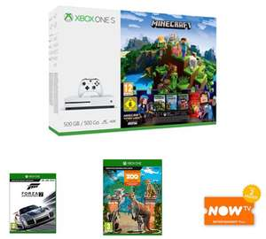 Microsoft Xbox One S Console 500GB Minecraft + 3M live + Forza Motorsport 7 + Zoo Tycoon + NOW TV £179.99 - GAME