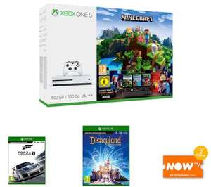 Microsoft Xbox One S Console 500GB Minecraft + 3M live + Forza Motorsport 7 + Disney Adventures + NOW TV £179.99 - GAME