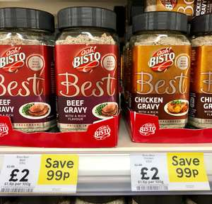 A must for your roast dinner - Bisto Best Beef, Chicken & Turkey gravy 325g (Big one) only £2 @ Tesco & Asda - in store & online!