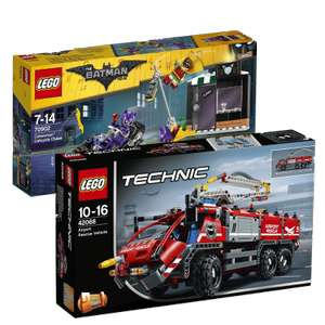 Lego - 42068 Airport Rescue Vehicle + 70902 Catwoman Catcycle Chase - £50.50 Total for Both @ Amazon