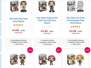 Star Wars and other POP Figures For £4.96 each @ Toys r Us