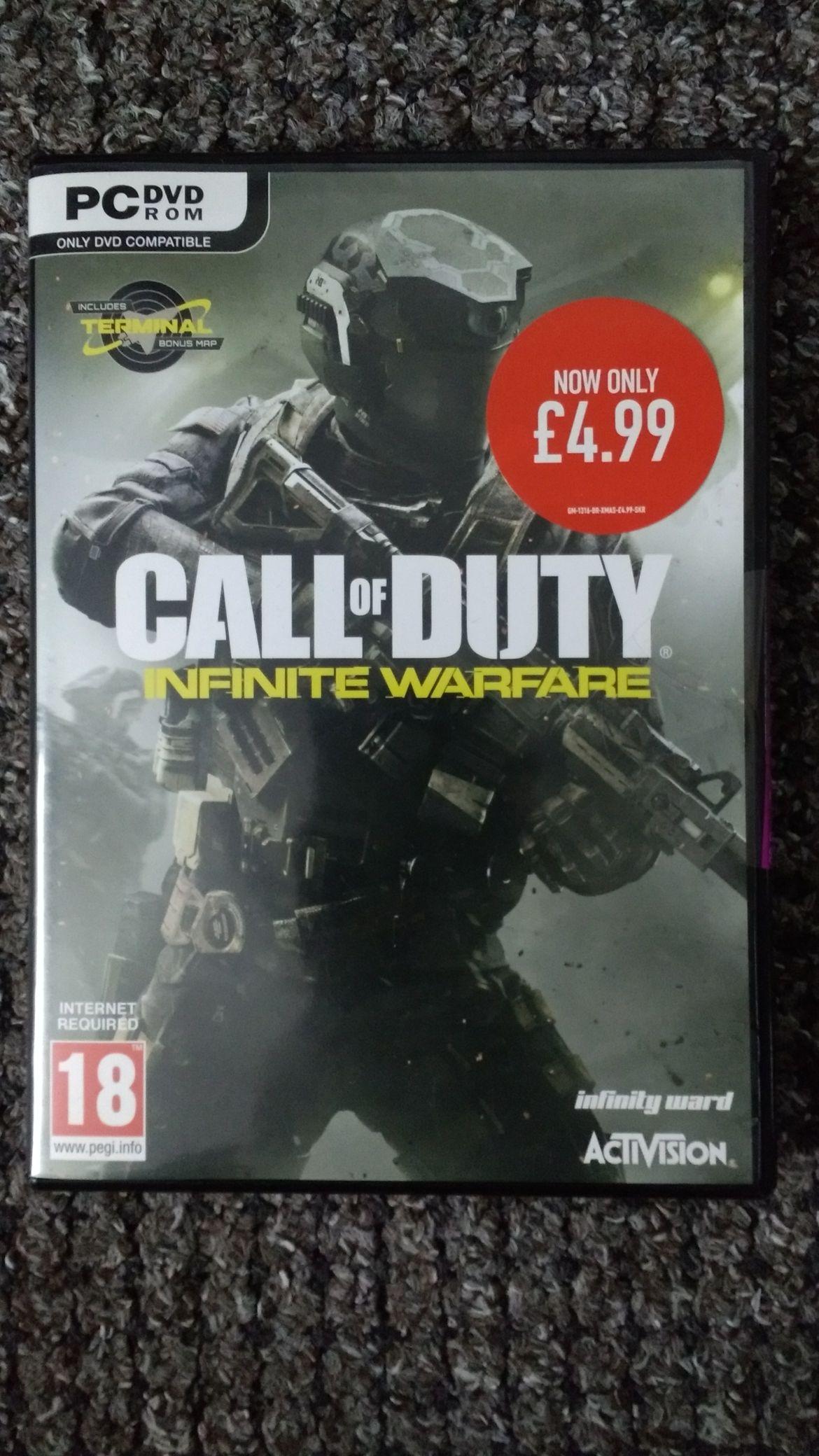 PC DVD Call of Duty Infinite Warfare £4.99 GAME