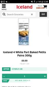 Bargain of the year Iceland breadrolls 50p each or 2 for £1.00