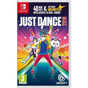 Just Dance 2018 for Nintendo Switch Instore at Sainsbury's - £29.99