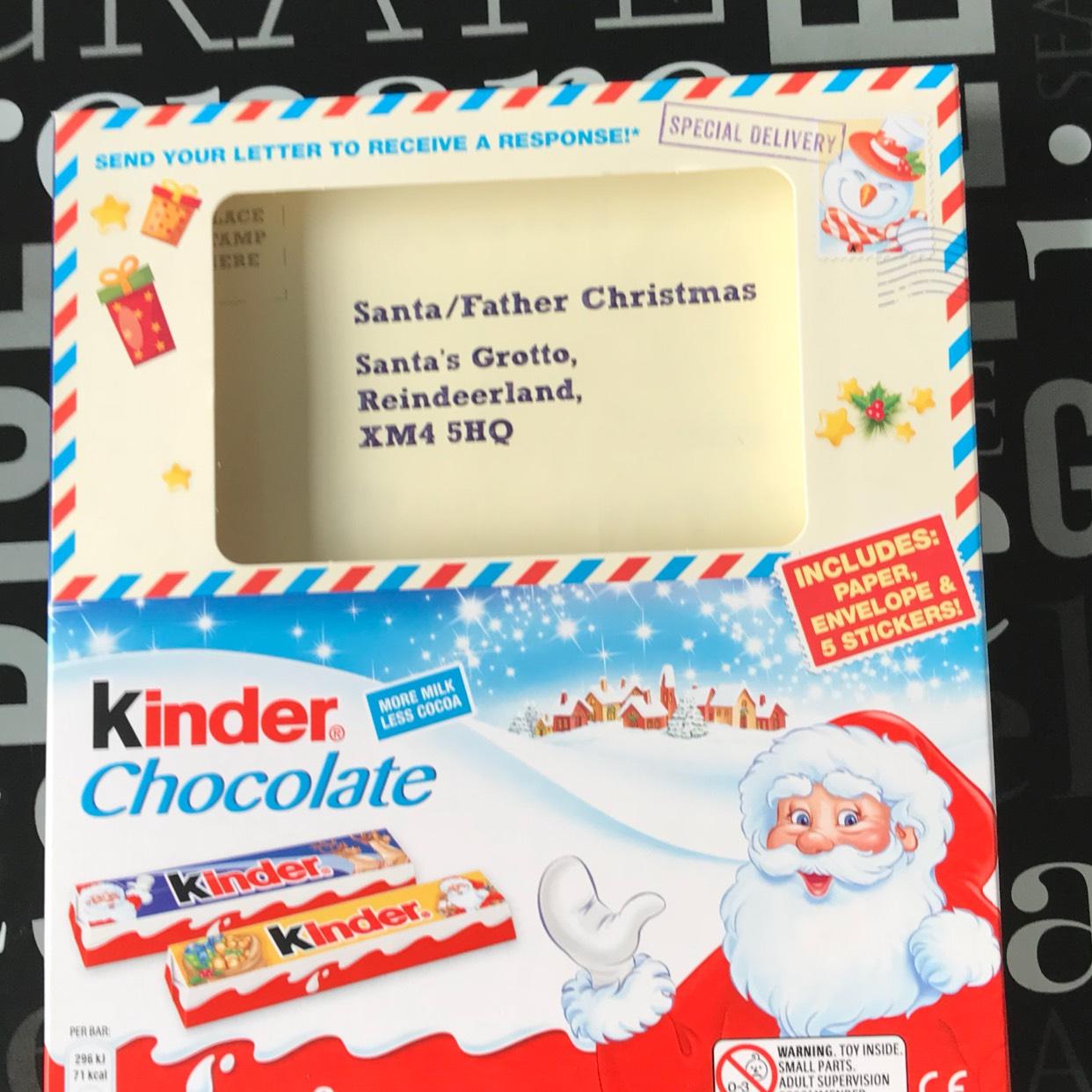 Kinder Chocolate Santa letter kit. £1 at Asda.
