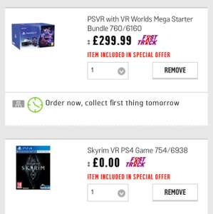 PLAYSTATION VR with VR worlds and Free VR game - £299.99 @ Argos