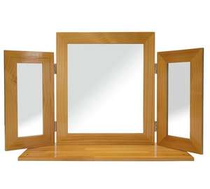 Oak Effect Triple Mirror - £12.49 from Argos!