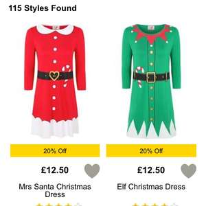 Mrs Santa Claus dress and Elf dress on offer £10 at George Asda free click and collect