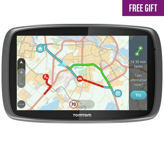 TomTom Go 510 5 Inch Traffic Sat Nav World Maps, Case & Driving Test Deluxe PC DVD ROM £129.99 @ Argos
