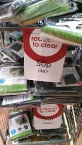 Wilko wembley Plastic covers for garden marked 0.50 on till 0.01 each