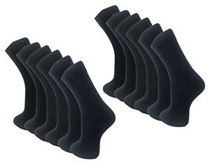 Mens Black Lycra Socks (12 Pack) Ayra® Comfortable, Everyday, Breathable Calf Socks £5.99 prime / £9.98 non prime Sold by School Wear United & Ayra® Mens Wear and Fulfilled by Amazon