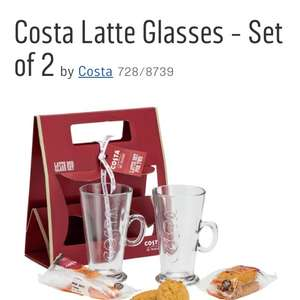 Costa Latte cups gift set for two only £9.98 at Argos free click and collect