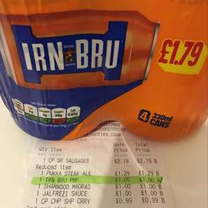 4 cans of IRN BRU for £1 @ Co-op Marston