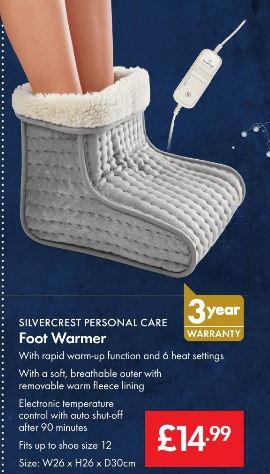 BIG SLIPPER (Foot Warmer) - £14.99 - LIDL (Silvercrest) - 3 Year Warranty