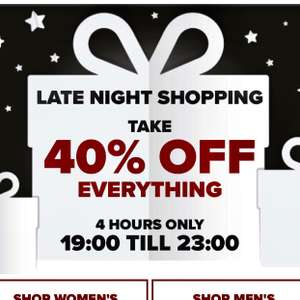 Crocs UK 40% off everything.