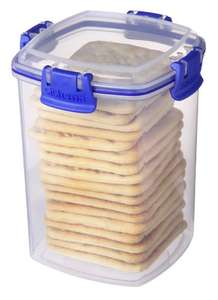 Sistema KLIP IT Cracker Storage Container, 900 ml - Clear with Blue Clips £2.59 prime / £6.58 non prime @ Amazon