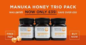 Manuka Doctor Triple pack only £35 (usually £85)