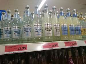 Fevertree range 500ml bottles Sainsbury's (and Morrisons) - rare discount of Fevertree - £1.35 instore @ Sainsbury's