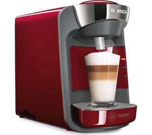 TASSIMO by Bosch SUNY TAS3203GB Coffee Machine - Red  Save £60.00 Was £119.99, now £59.99 @ Currys