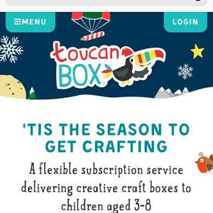 Free toucan taster box for kids with code