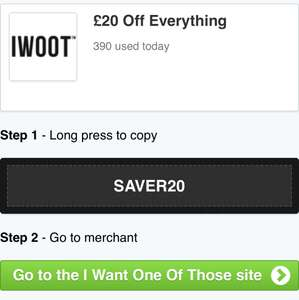 £20 off everything over £100 from IWOOT