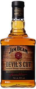 Jim Beam Devil's Cut Kentucky Straight Bourbon Whiskey, 70 cl - Amazon - £16 - Prime Exclusive