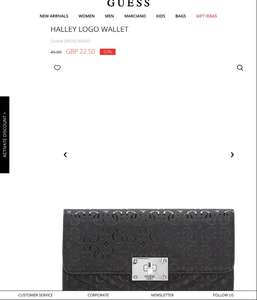 HALLEY LOGO WALLET £22.50 - GUESS