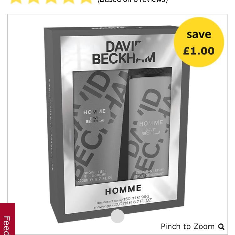 David Beckham Homme gift set £4 Wilko