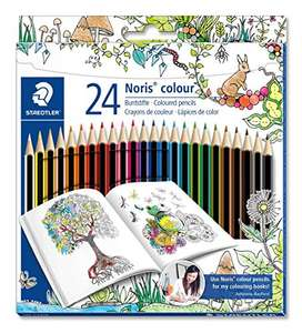 Staedtler 185 C24JB Noris Coloured Pencil, Johanna Basford Design - Assorted Colours, Pack of 24 £3.48 Del Prime / ££7.47 Non Prime (3.31 S &S) @ Amazon