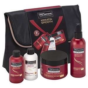 TRESemmè Keratin Smooth Styling Bag Gift Set (inc 4 Full Size Products) £6.75 Prime / £11.50 Non Prime @ Amazon