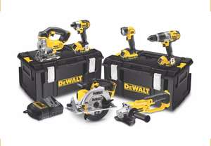 Dewalt 6 piece kit with 3 4ah batteries and free delivery at B&Q - £340