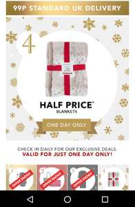 Peacocks deal of the day, half price blankets from £5, make a nice gift