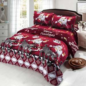 4 Piece 3D Christmas Bedding Set, Quilt Cover, Fitted Sheet & 2 Pillowcases. Sold by HoneyMomy-UK, fulfilled by Amazon £20.15