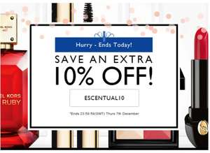 10% Off Everything - Today Only @ Escentual