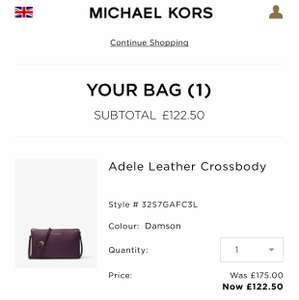 Michael Kors VIP sale 30% off