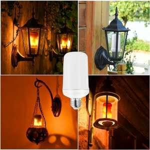E27 LED Flame Flickering Effect Fire Light Bulb £5.99 Del w/code @ Geekbuying