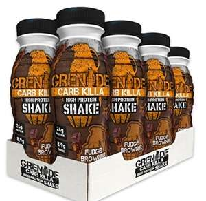 Grenade Carb Killa 330 ml Fudge Brownie High Protein Shake Bottles - Pack of 8 - £10.66 (Prime) £15.41 (Non Prime) @ Amazon