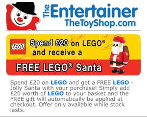 Spend £20 on LEGO get free LEGO Santa at the Entertainer