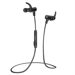 VAVA Bluetooth 4.1 Wireless Sports Headphones in Ear Earphones with Noise Cancelling Mic and Stereo Magnetic Earbuds(8 hours Playtime,IPX5 Splashproof, aptX Stereo) £15.99 with code Sold by Sunvalleytek-UK and Fulfilled by Amazon