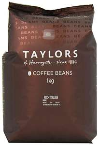 Taylors of Harrogate Rich Italian Coffee Beans 1 kg (Pack of 2) - £19 (Prime) £23.75 (Non Prime) @ Amazon