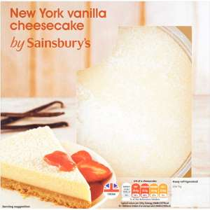Sainsbury's New York Cheesecake Dessert (600g) was £3.50 now Only £2.50